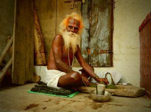 Varanasi sadhu bhang