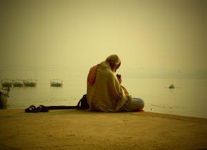 Varanasi sadhu sunrise