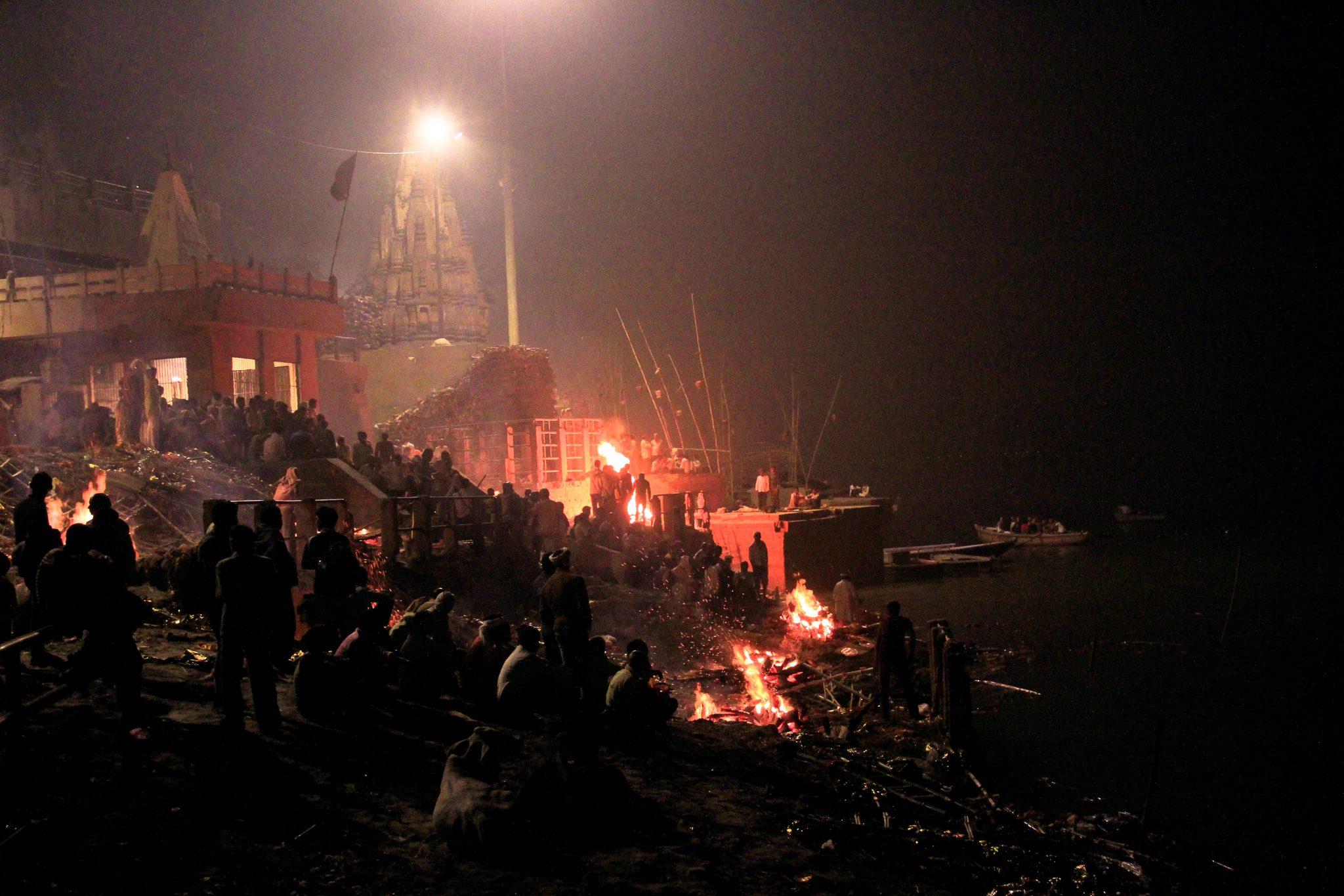 Manikarnika Ghat, Varanasi, night