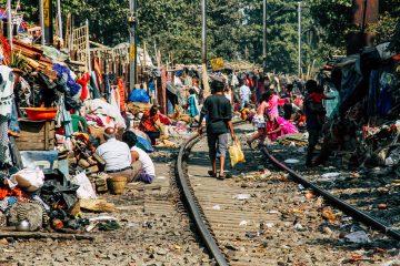 Calcutta, railway slum tour