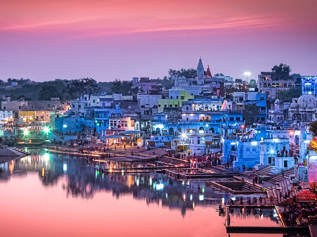 Pushkar Lake, tour zaino in spalla India
