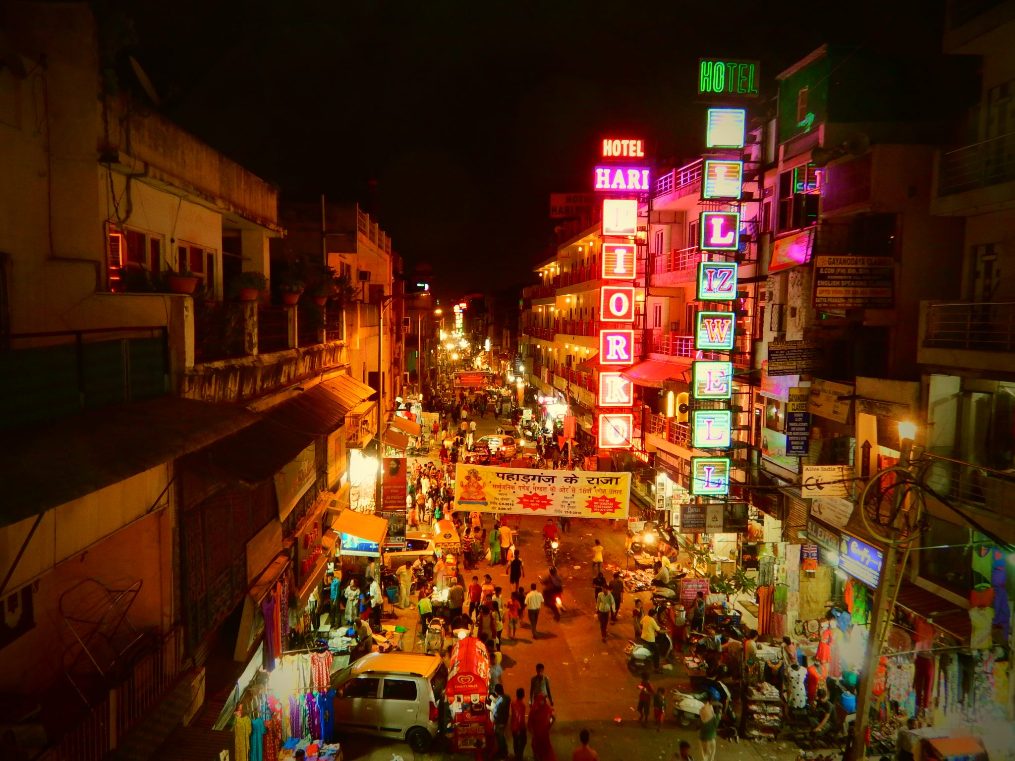 Paharganj, Main Bazar Road, tour avventura India