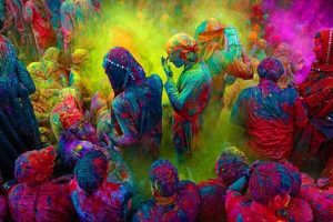 Holi Festival, Vrindavan, tour low cost India
