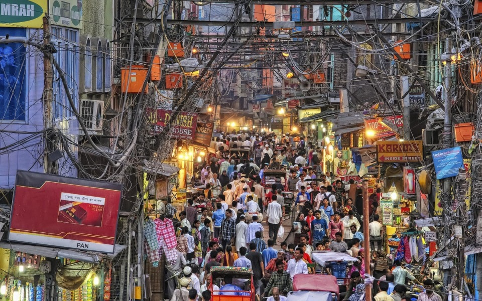 Old Delhi streets - adventure tour of India