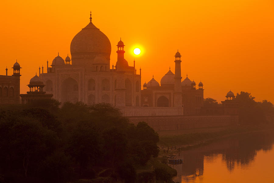 Taj Mahal sunset - tour avventura India